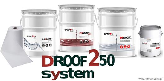 Produkty należące do systemu żywic hydroizolacyjnych Droof 250